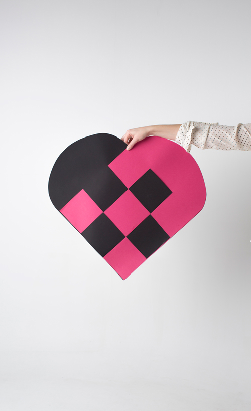 big paper heart
