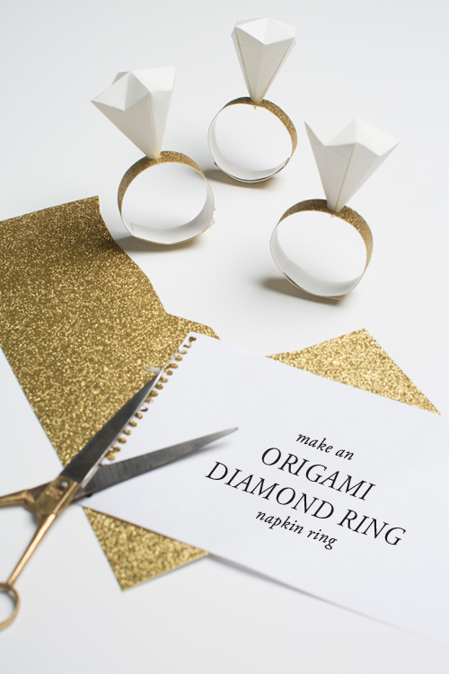 origami diamond ring napkin rings