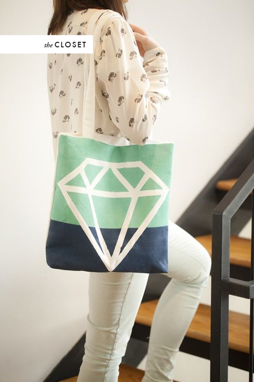 Diamond tote bag