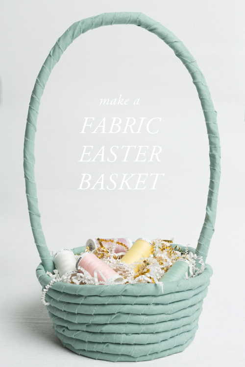 No sew fabric cord Easter basket