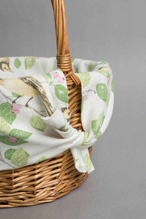 Make an Easter basket liner with fabric from Laura Ashley