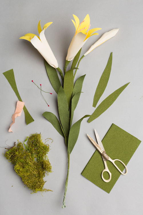 Potted paper Easter lily