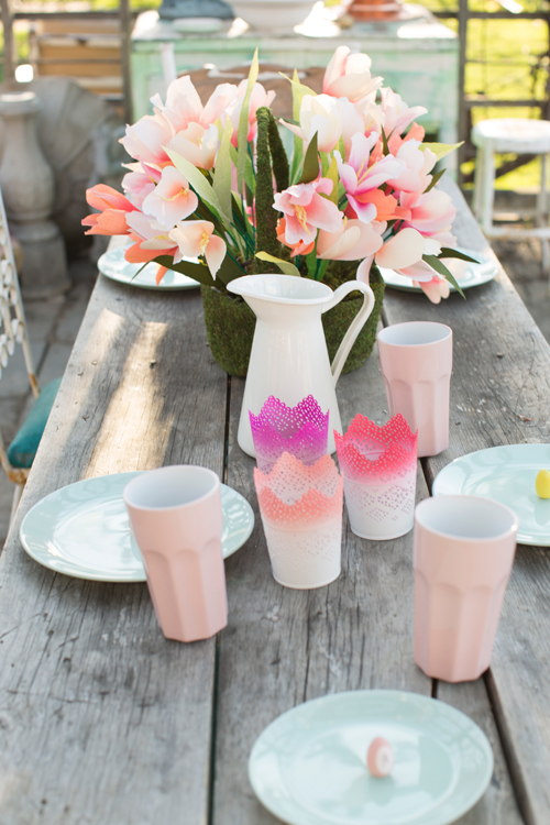 Spring pastel tablesetting