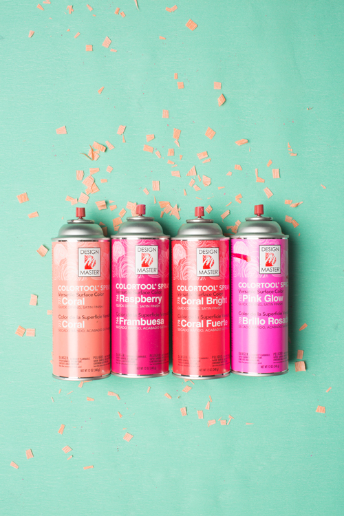 make ombre with spray paint