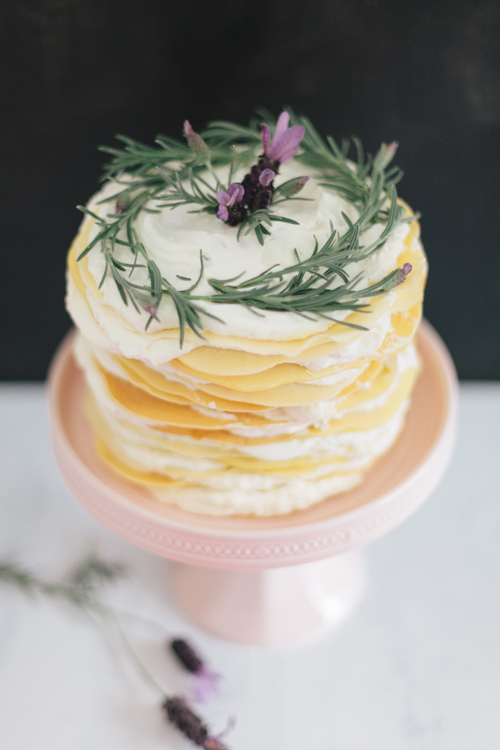 lavender honey crepe cake recipe