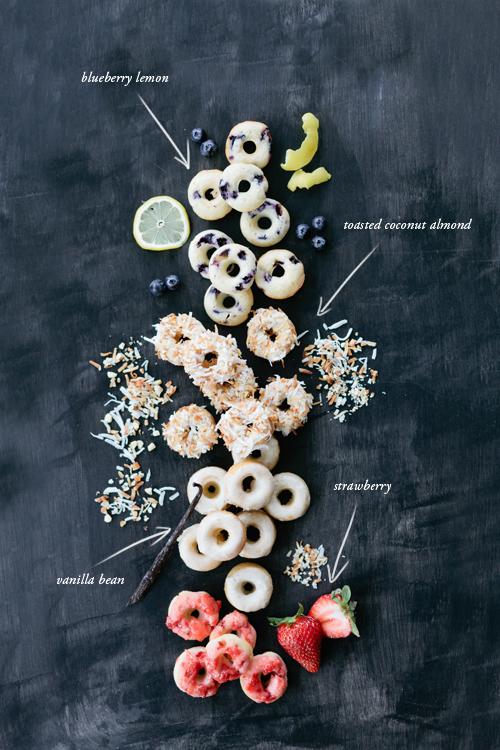 4 mini donut flavors