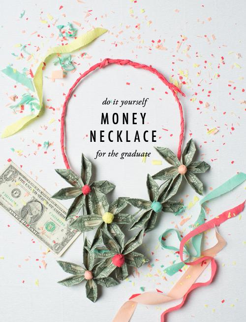 Money necklace DIY