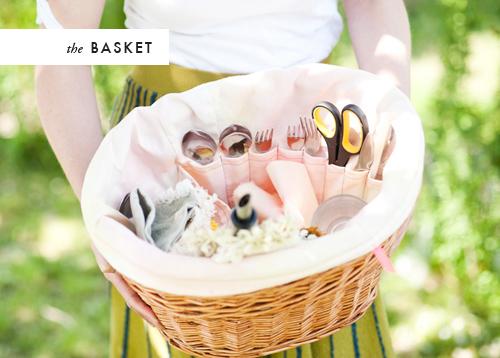 picnic basket liner DIY