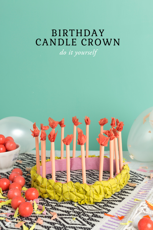 DIY birthday candle crown