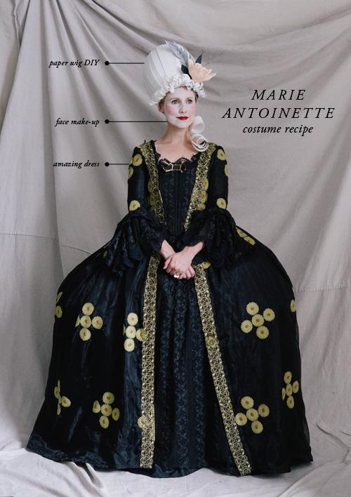 Marie Antoinette costume recipe