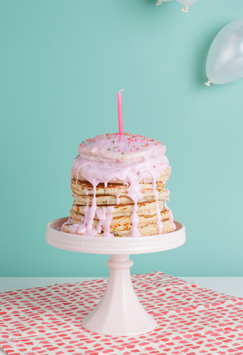 Birthday pancake cake