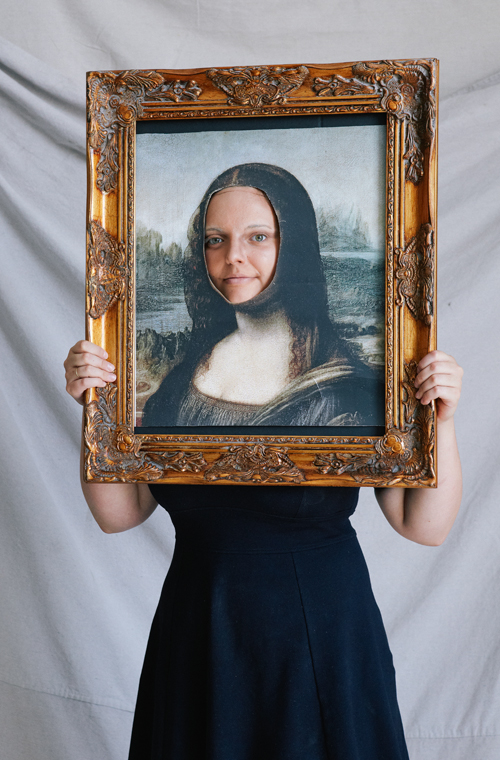 DIY Mona Lisa Halloween costume