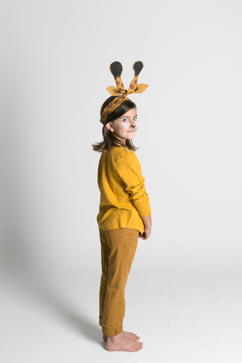 Giraffe ears twisty headwrap costume