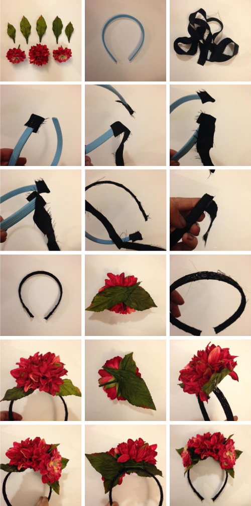 Make a Frida Kahlo floral headpiece
