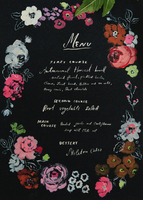 free printable Halloween menu card for your dinner party by Danielle Kroll for The House That Lars Built