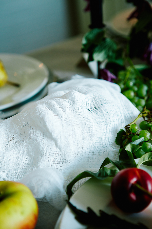 Cheesecloth ghost table runner