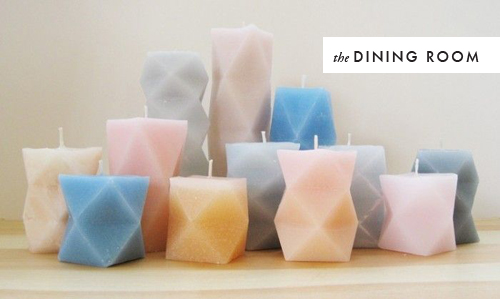 DIY geometric candle