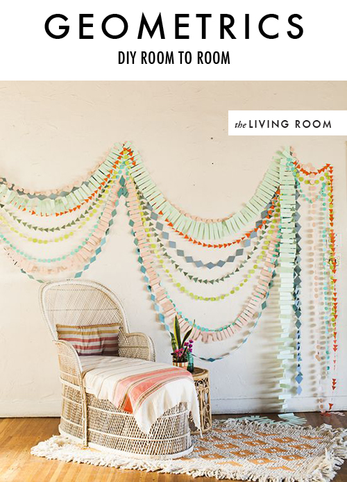 DIY geometric paper garland