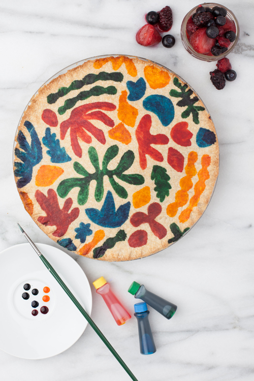 Matisse inspired pie crust idea.