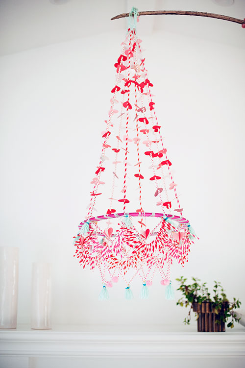 polish chandelier for valentine's day