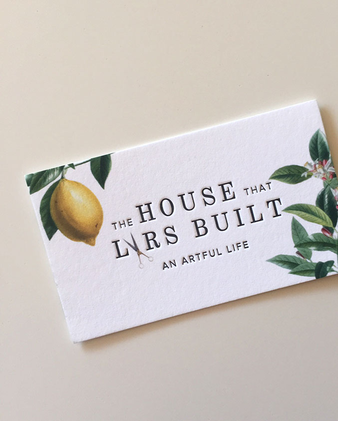 the house that lars built business cards