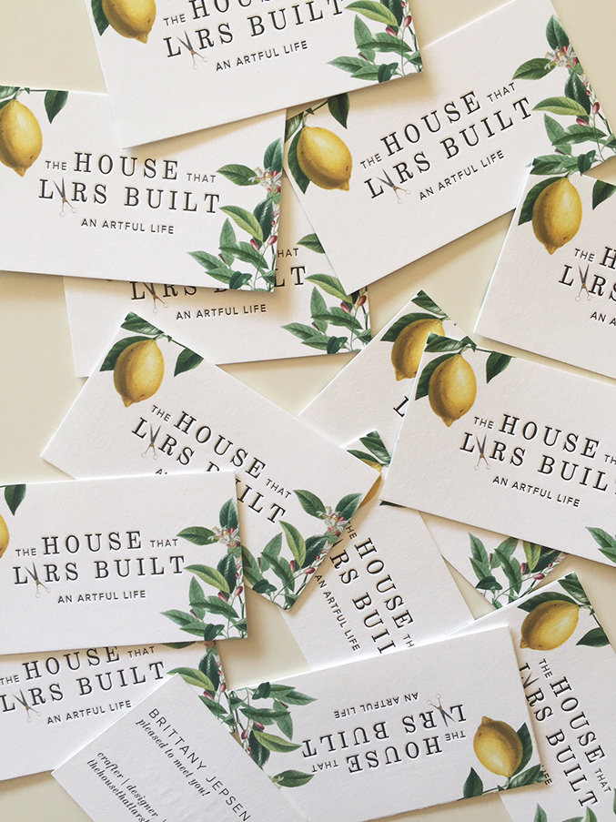 Beautiful letterpress business cards for The House That Lars Built