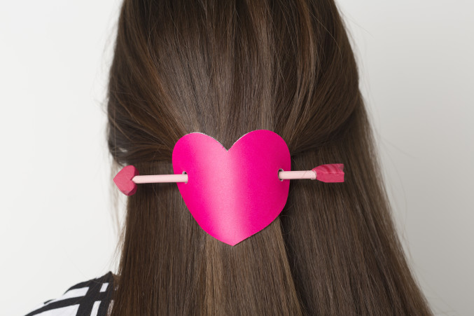diy valentine's day hair pin