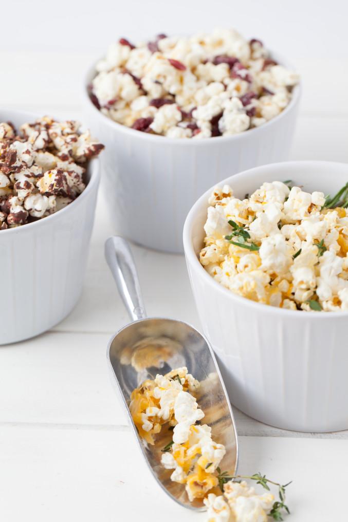 3 unique popcorn flavors