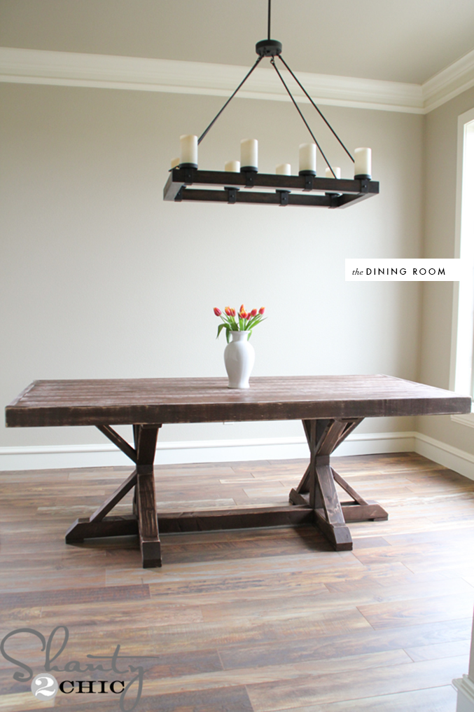 make this table inspired by Restoration hardware