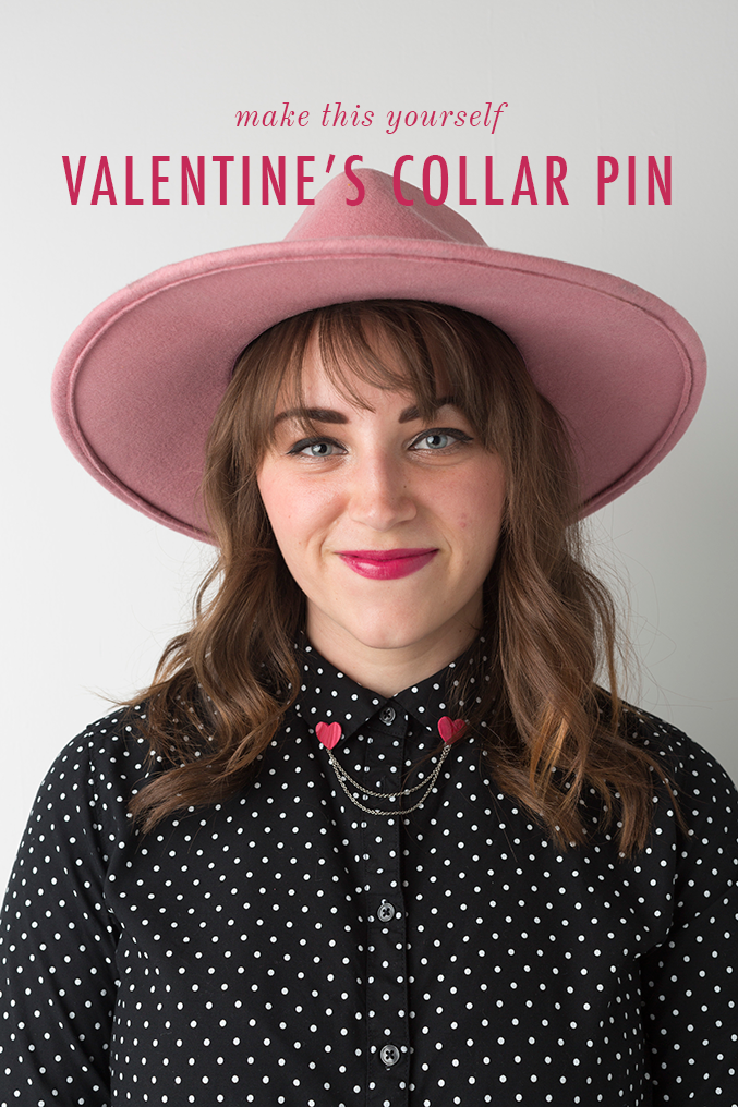 Valentine's Day heart collar pin tutorial