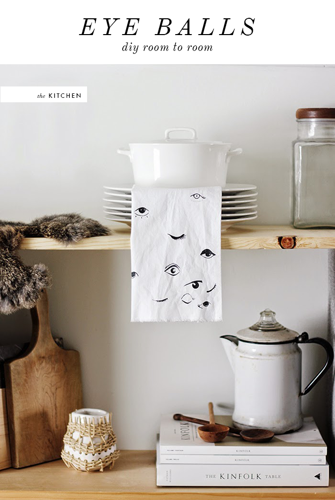 EYEBALL KITCHEN TEA TOWEL DIY