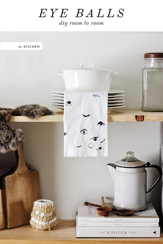EYEBALL KITCHEN TEA TOWEL DIY