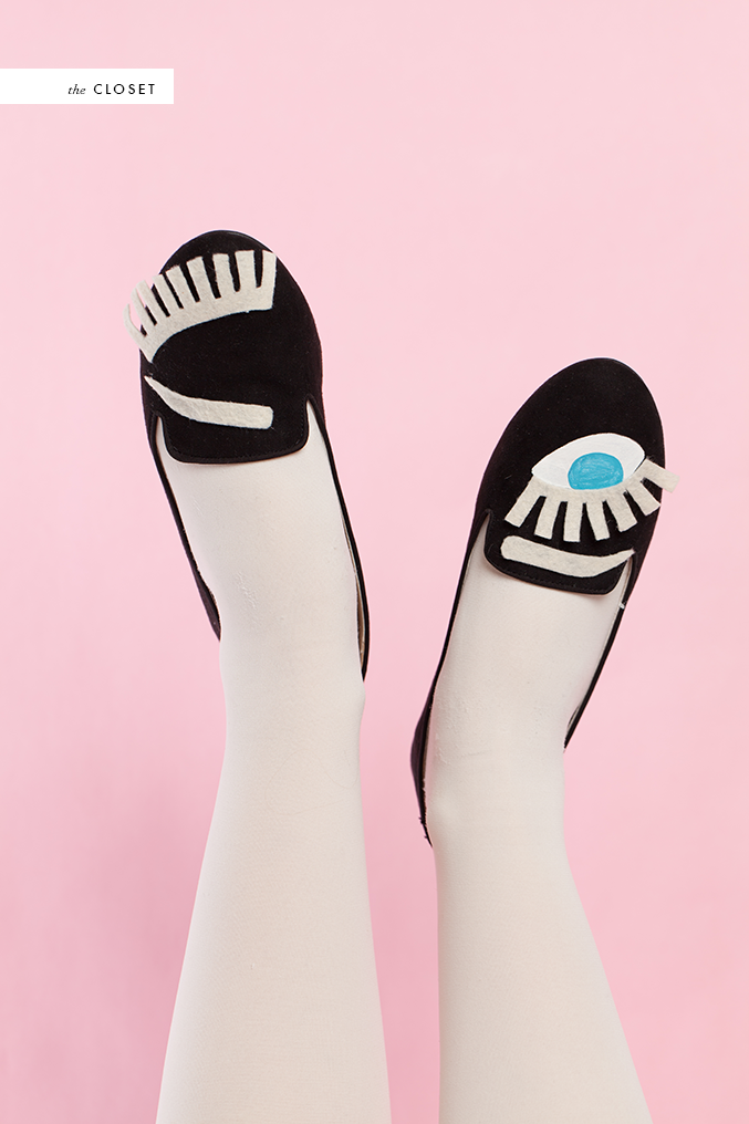DIY Eyeball shoes