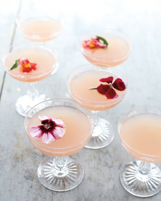 flowers in cocktail