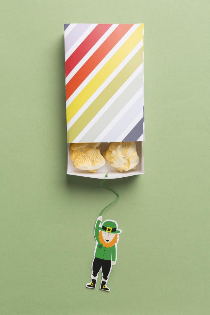 Printable Rainbow St. Patrick's Day cookie box