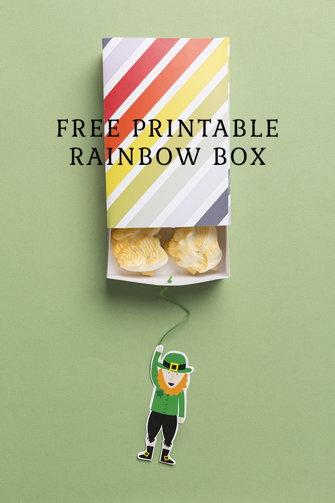 Free printable rainbow box