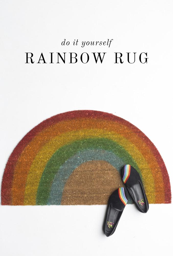 rainbow rug tutorial