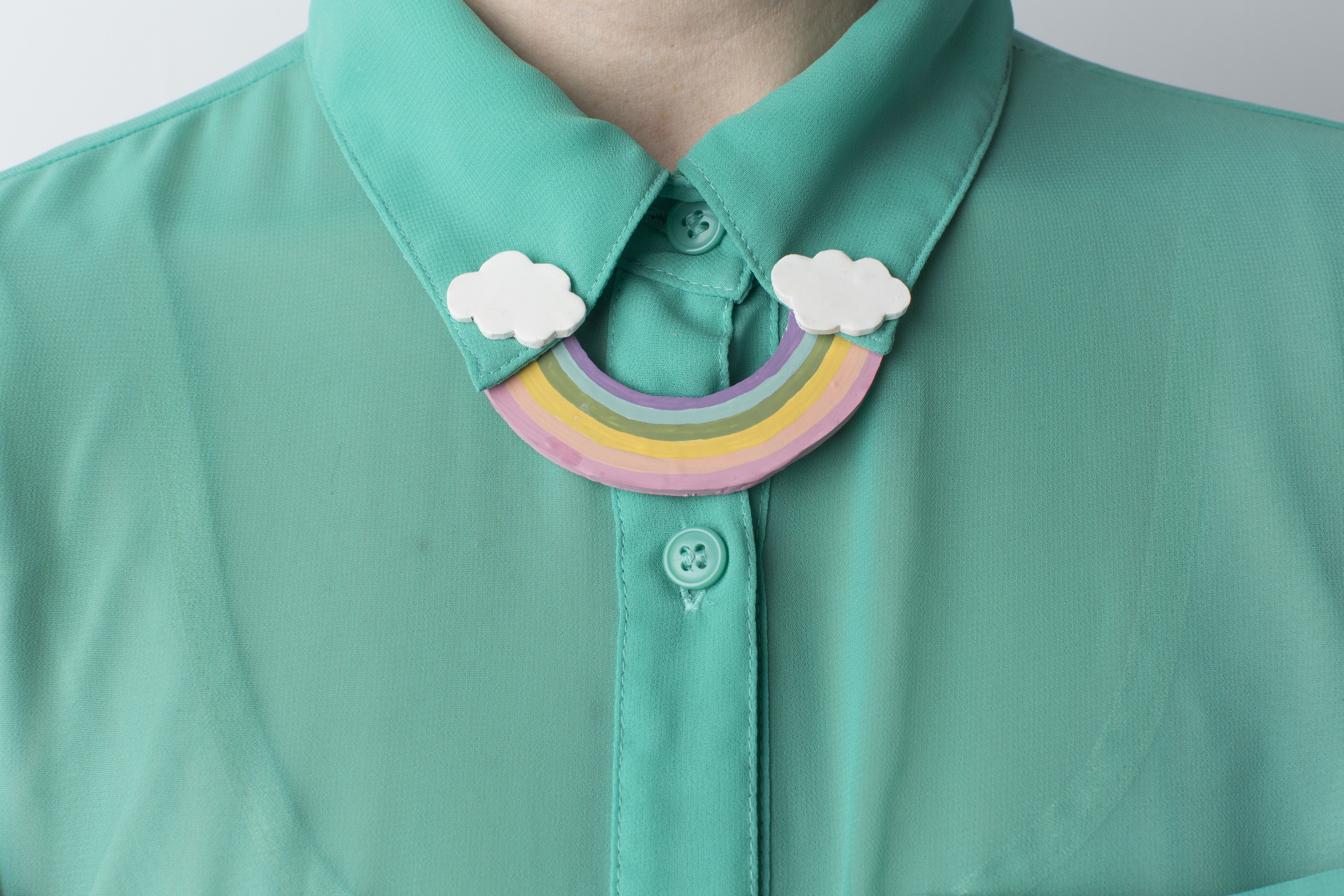 Rainbow collar DIY