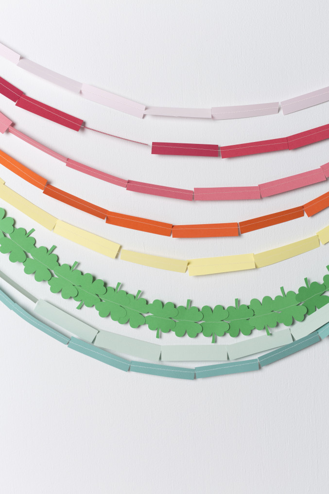 DIY Rainbow St. Patrick's Day Garland