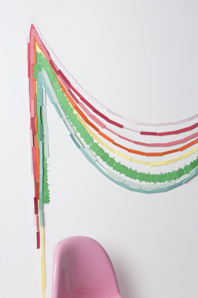 Make your own Rainbow St. Patrick's Day Garland