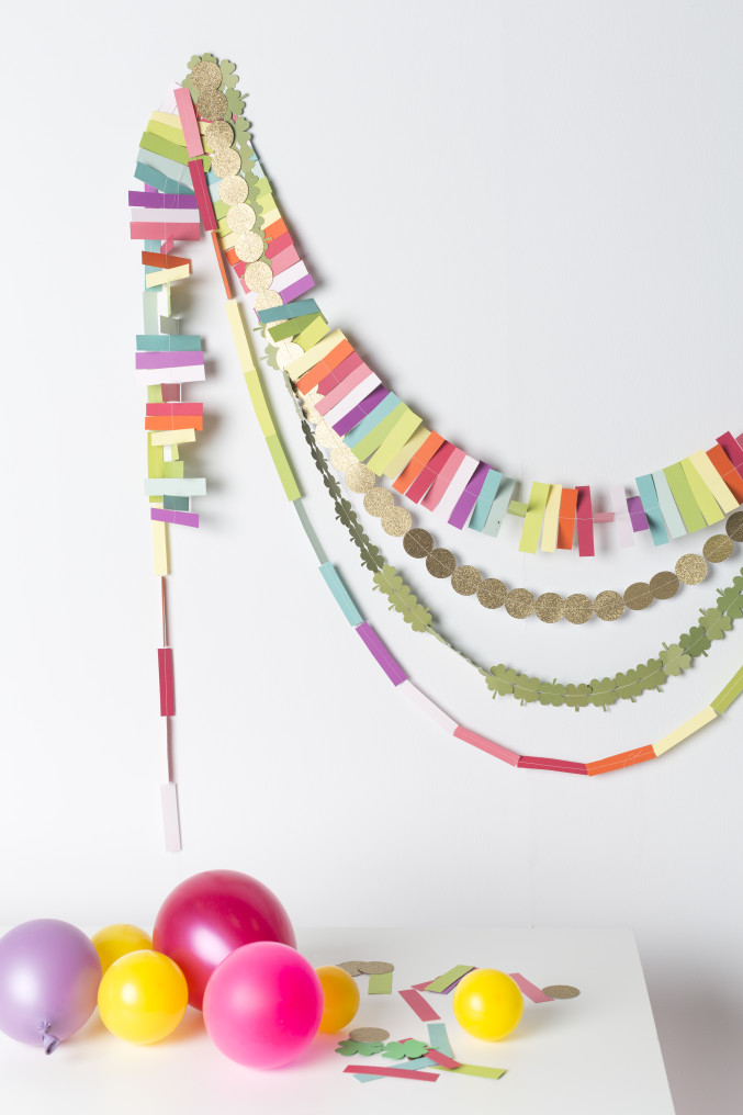 DIY Shamrock and Rainbow Garland for St. Patrick's Day