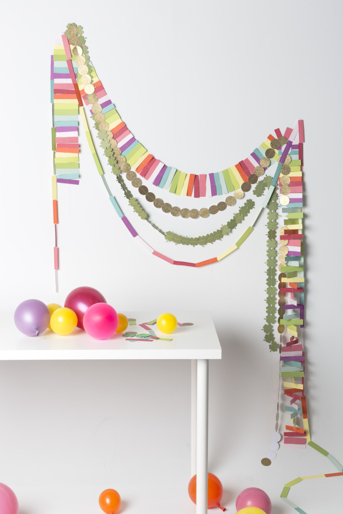 DIY Rainbow Garland for St. Patrick's Day