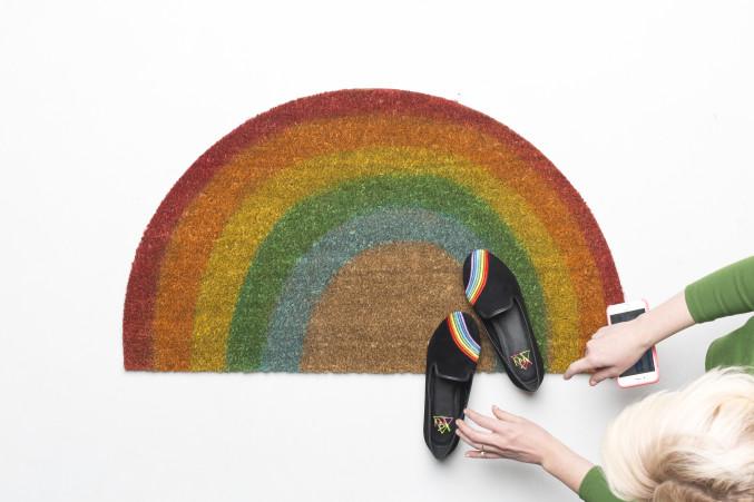 DIY Rainbow Rug