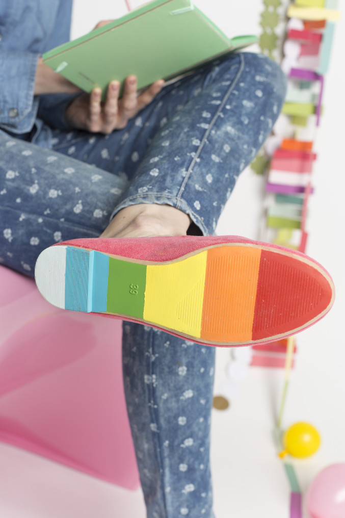 DIY Rainbow Shoes for St. Patrick's Day