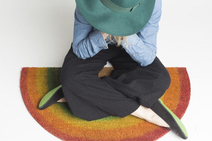 DIY Rainbow Rug and Shoes