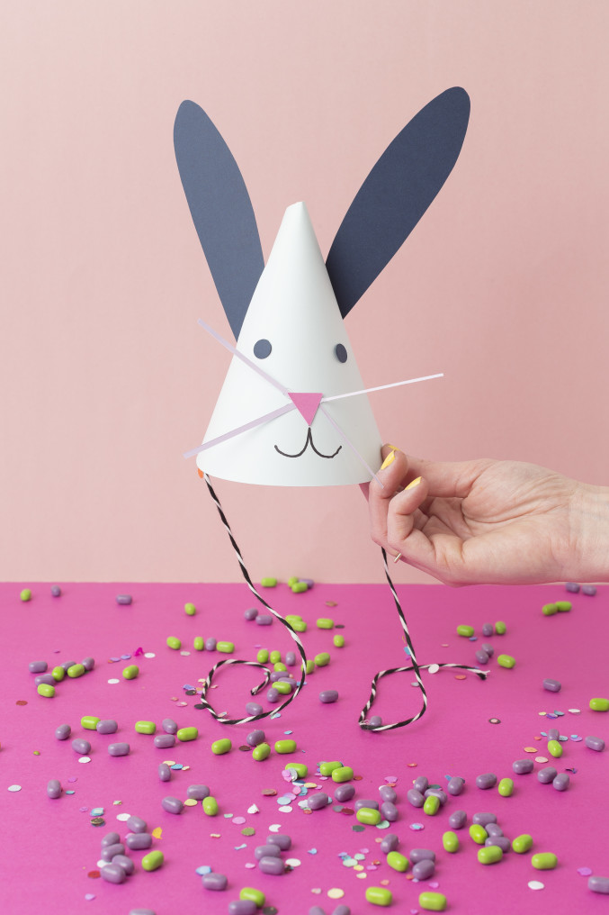 DIY bunny part hats