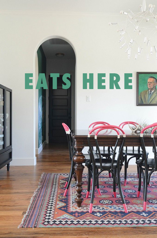THIS GIRL DINING ROOM FLAMINGO