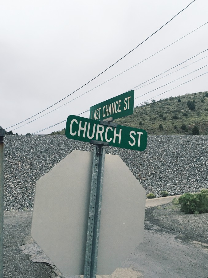 Church St and Last Chance St in Eureka, Utah