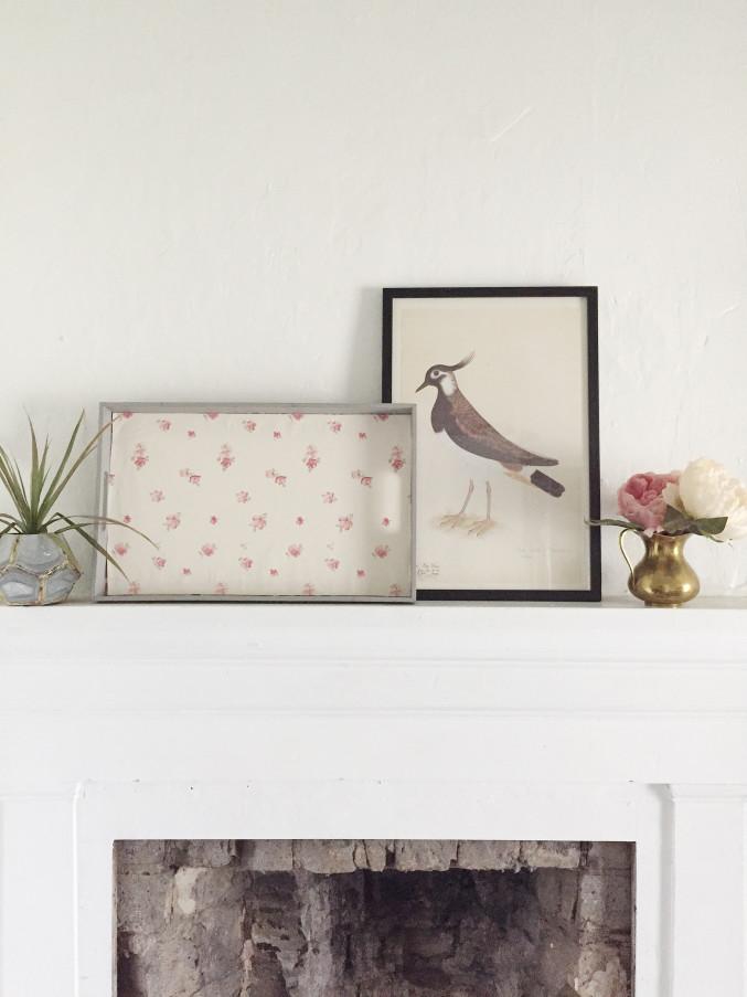 DIY Wallpaper Breakfast Tray