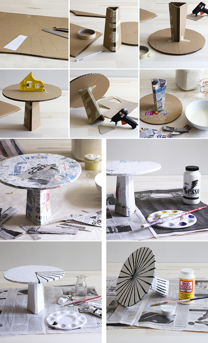 steps for cake stand diy